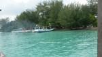 Sandar Kapal di Pulau Cemara