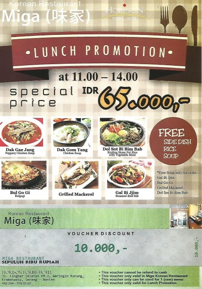 Lunch Promotion at Miga Korean Restaurant
