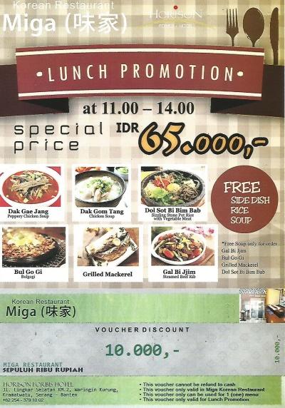 Lunch Promotion at Miga Korean Restaurant